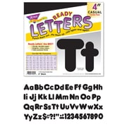 """Trend® 4"""" Ready Letters®, Casual Combo Black"""