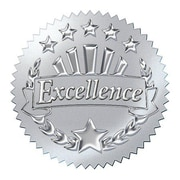 Trend Enterprises® Award Seals Stickers, Excellence, Silver