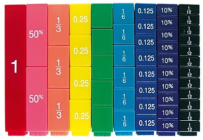 Learning Resources® Fraction Tower® Equivalency Cubes Set
