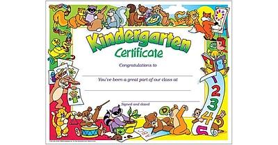 Trend Enterprises® Congratulations Kindergarten Certificate, 8 1/2