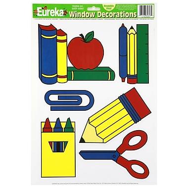 Eureka® Window Cling, School Tools