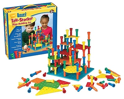 Lauri Toys Tall Stacker Pegs and Building Set 932739