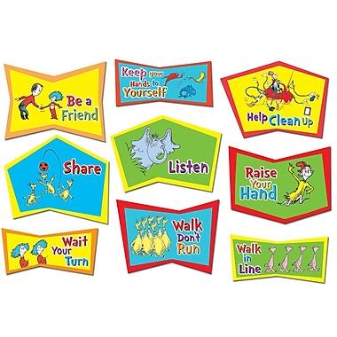 Eureka Bulletin Board Set, Dr. Seuss Classroom Rules (EU-847131)