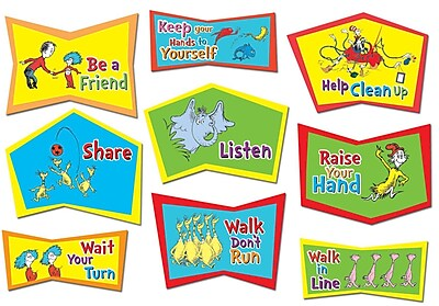 Dr. Seuss Classroom Rules Bulletin Board Set
