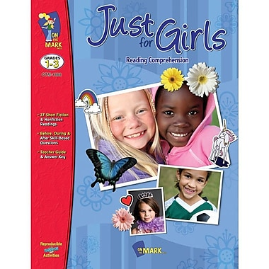 On The Mark Press Just For Girls Reading Comprehension Book, Grade 1 - 3 (OTM18135)