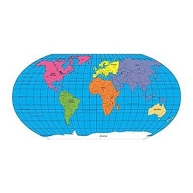 Shapes Etc World Labeled Practice Map Notepad, 9
