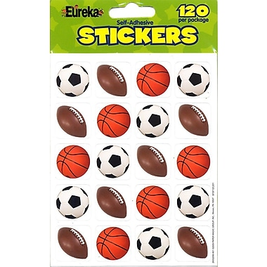 Eureka® Stickers, Mixed Sports Theme