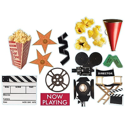 Movie Theme Two-Sided Deco Kit