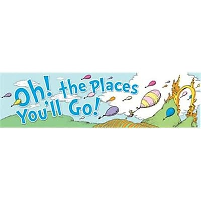 Eureka Dr. Seuss Colorful Classroom Banner, Oh! The Places You''ll Go, Toddler - 6th Grade (EU-849581)