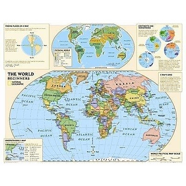 National Geographic Maps Beginners World Map, Kindergarten - 3 (NGMRE01020557)
