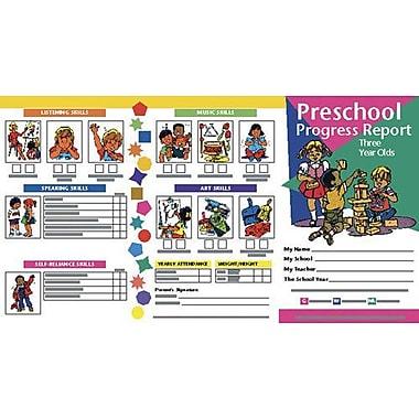 Hayes® PreSchool Progress Report Card, 3 Years, 10/Pack (H-PRC1)