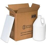 """12"""" x 6"""" x 12 3/4"""" - Staples 2 - 1 Gallon Plastic Jug Shipper Kit"""