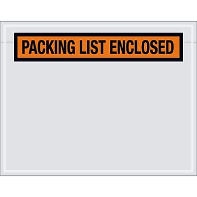 7X5.5 Packing List Envelope