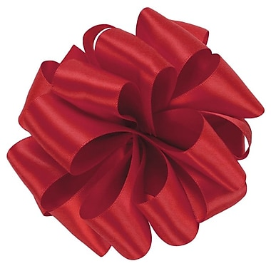 Shamrock Berwick/Offray Red Double Face Satin Ribbon 1.5