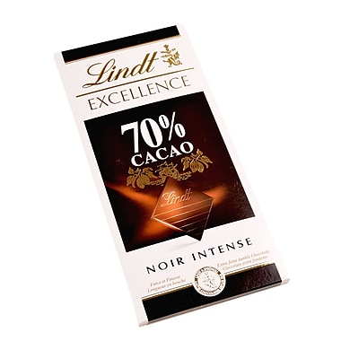 Lindt Excellence Chocolate Bars, 70% Cocoa Dark Chocolate, 3.5 oz., 12 Bars/Box