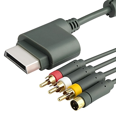 Insten® 6' AV Composite and S-Video Cable For Xbox 360, Gray