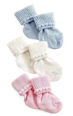 Medline Infant Booties, White, Dozen