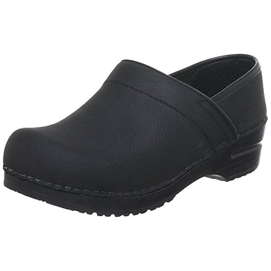 Sanita Footwear Leather Professional Oil Clog Black, 9.5 - 10