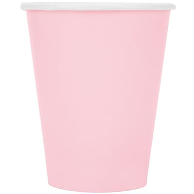 Creative Converting Classic Pink 9 oz. Hot/Cold Drink Cups, 24/Pack 1005972