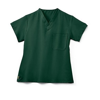Fifth AVE.™ Unisex Scrub Top, Hunter Green, XL