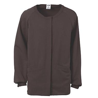 Addison AVE.™ Unisex Hidden Snap Warmup Scrub Jacket, Charcoal, 2XL