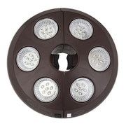 Blue Wave 6 Light Rechargeable LED Umbrella Light, Bronze