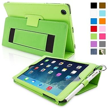 Snugg Leather Flip Stand Cover Case With Elastic Strap For iPad Mini/Mini 2 Retina, Green