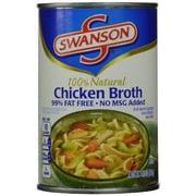 Swanson Chicken Broth 99% Fat Free, 24/Pack