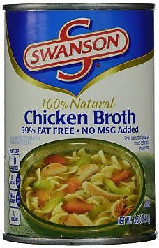 Swanson Chicken Broth 99% Fat Free, 24/Pack