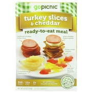 gopicnic Cheddar 1 6 Oz. Turkey Slices, 6/Pack