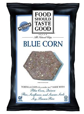 Food Should Taste Good Blue Corn 5.5 Oz. Tortilla Chips, 8/Pack