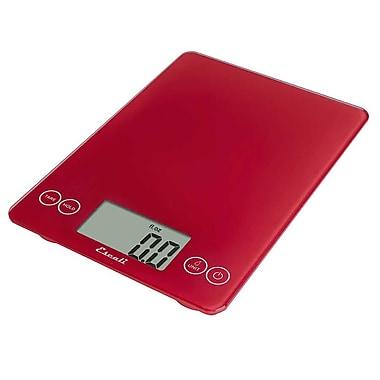 Escali Arti Glass Digital Scale, 15 Lb 7 Kg, Retro Red