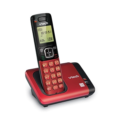 VTech CS6719-16 DECT 6.0 Expandable Cordless Phone with Caller ID/Call Waiting, Red