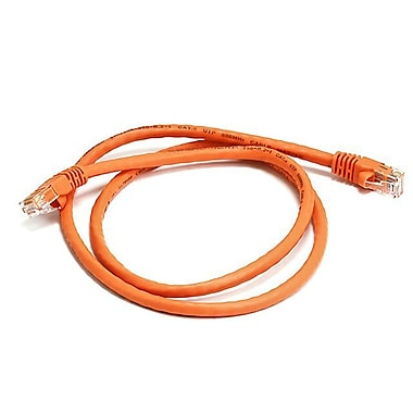Monoprice 103413 3' CAT-6 Ethernet Network Cable, Orange