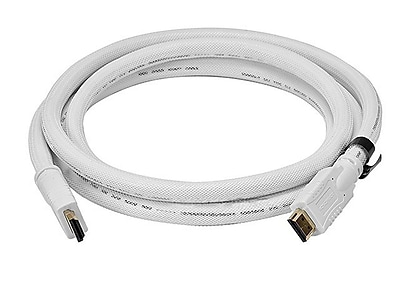 Monoprice® 10' CL2 High Speed HDMI Male to Male 24AWG Cable With Net Jacket, White