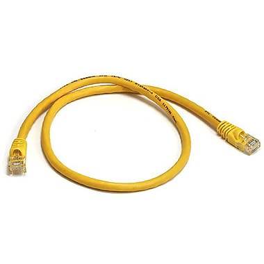 Monoprice® 2' 24AWG Cat5e UTP Ethernet Network Cable, Yellow