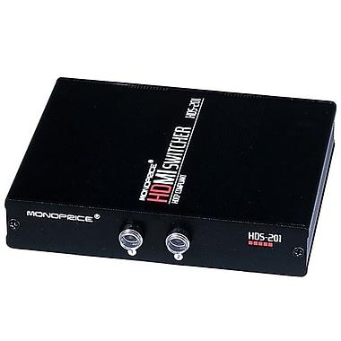 Monoprice® 102786 2 x 1 Push Button Manual HDMI Switch