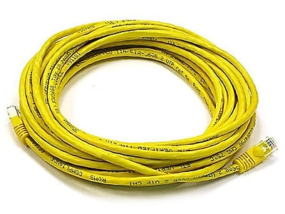 Monoprice® 25' 24AWG Cat5e UTP Ethernet Network Cable, Yellow