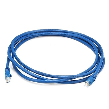 Monoprice® 7' 24AWG Cat6 UTP Ethernet Network Cable, Blue