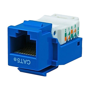 Monoprice® Cat5e RJ-45 Toolless Keystone Jack, Blue