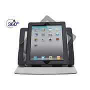 "Monoprice® 360 Degree Swivel Cover and Stand For All 9.7"" iPad, Black/Gray"