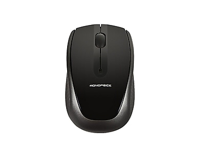 Monoprice 109257 USB Wireless Optical Mouse, Black/Gray