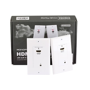 Monoprice® HDMI Over Cat5e/Cat6 Extender Wall Plate With Built-in Backward IR Channel