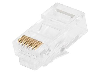 Monoprice 107246 RJ-45 Network/Modular Connector, White