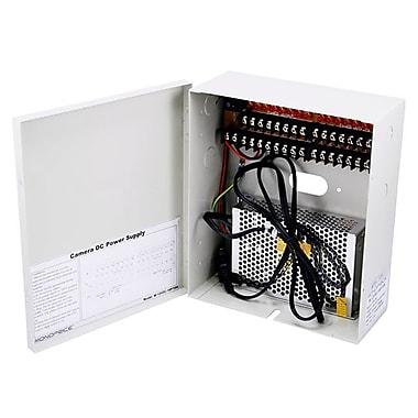 Monoprice® 106875 12 VDC 10 A CCTV Camera Power Supply, 16 Channel