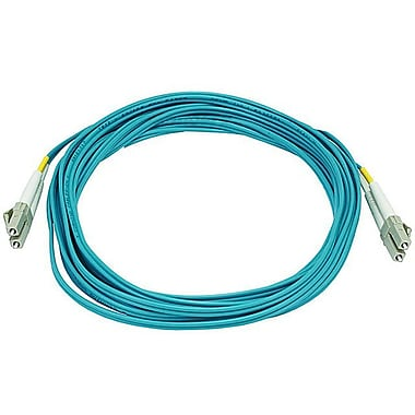 Monoprice® 5 m OM3 LC to LC Fiber Optic Cable, Aqua