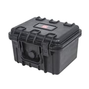 "Monoprice® 10.63"" x 9.09"" x 7.28"" Weatherproof Polypropylene Case With Customizable Foam, Black"