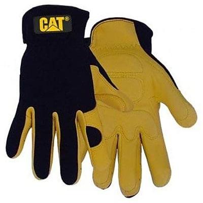 Cat Gloves CAT012205M Black Leather, Medium