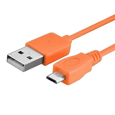 Insten® 10' Universal Micro USB Data Cable; Orange