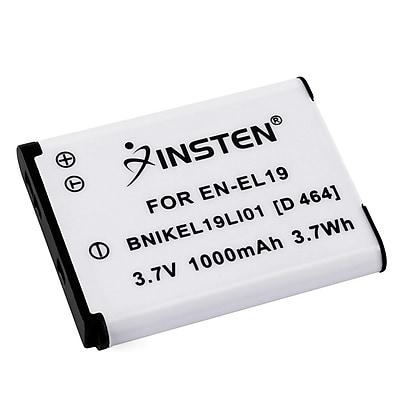 Insten® 392615 3.7 VDC 1000mAh Rechargeable Li-ion Battery For Nikon EN-EL19; White
